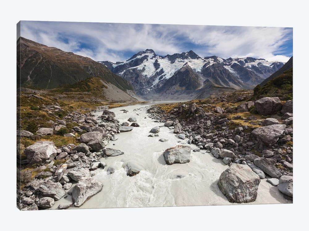 New Zealand, South Island, Canterbury, Aoraki-Mt. Cook National Park by Walter Bibikow 1-piece Canvas Artwork