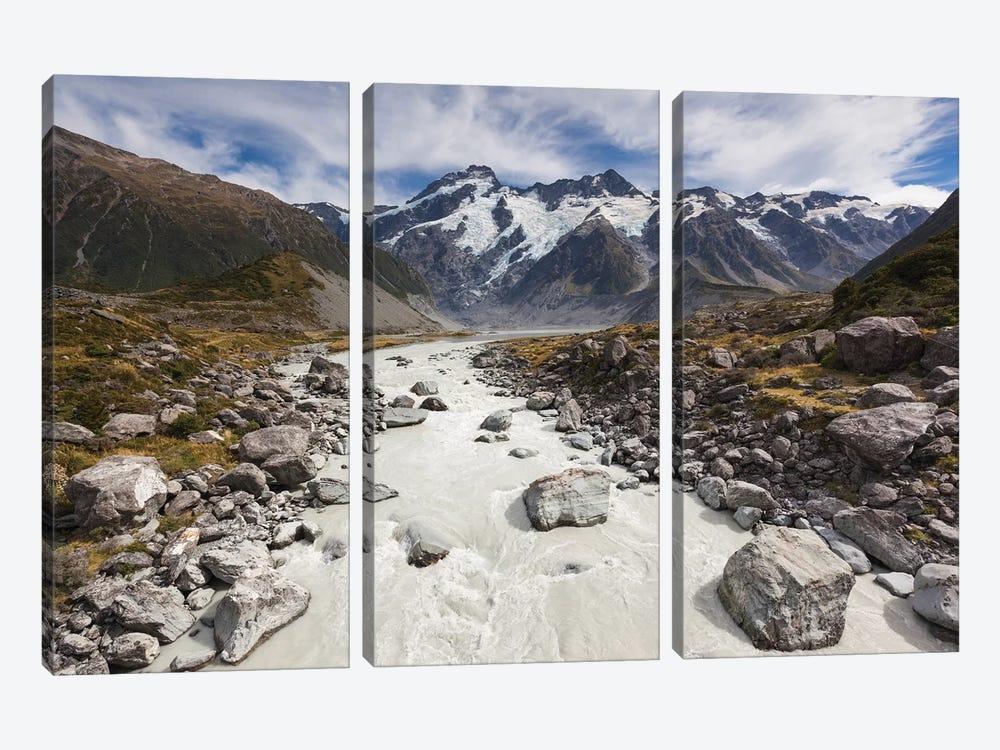 New Zealand, South Island, Canterbury, Aoraki-Mt. Cook National Park by Walter Bibikow 3-piece Canvas Artwork