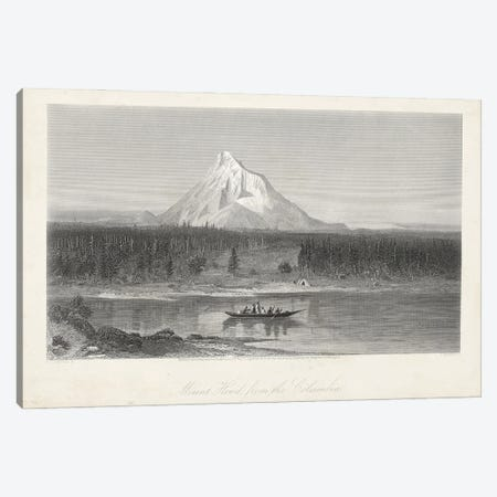 Mount Hood from the Columbia Canvas Print #WCB1} by William Cullen Bryant Canvas Wall Art