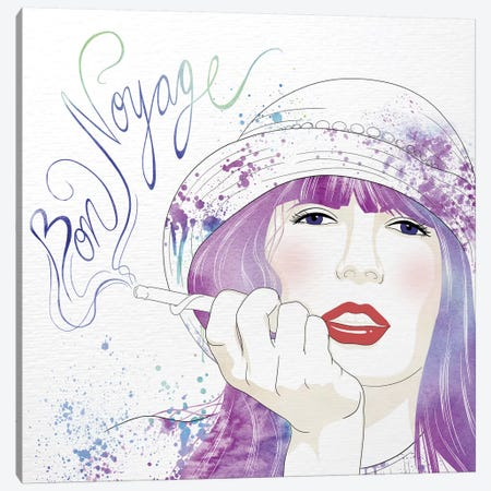 Bon Voyage Canvas Print #WCFN1} by 5by5collective Canvas Print