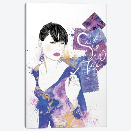 Ceste la Vie Canvas Print #WCFN2} by 5by5collective Art Print