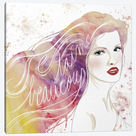 Je taime beaucoup Canvas Print #WCFN3} by 5by5collective Art Print