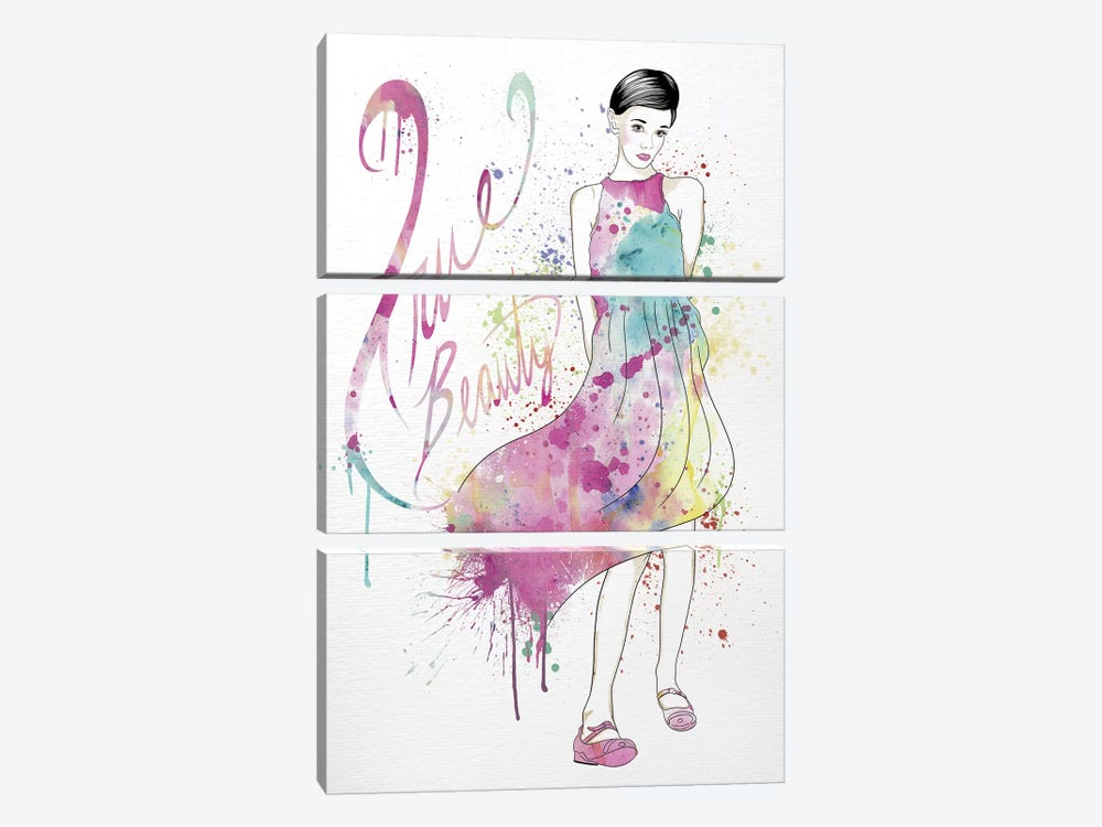 True Beauty by 5by5collective 3-piece Canvas Print