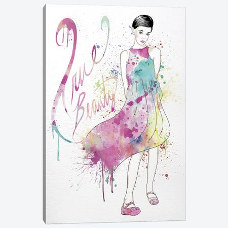True Beauty Canvas Print #WCFN5} by 5by5collective Canvas Art