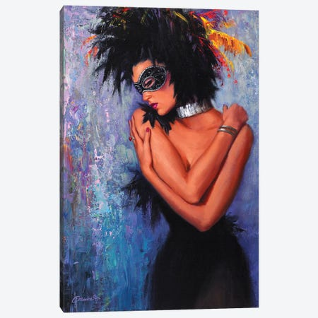 Lady In Black Canvas Print #WCO12} by Wil Cormier Canvas Print
