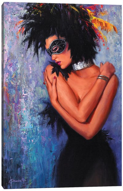 Lady In Black Canvas Art Print