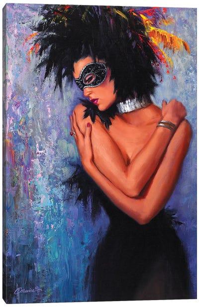 Lady In Black Canvas Art Print