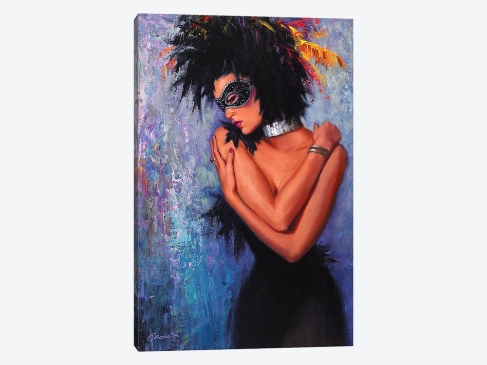 Lady In Black by Wil Cormier 1-piece Canvas Art Print