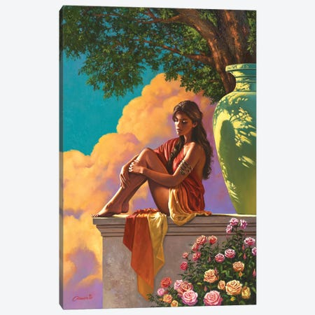 Lady Of Pompeii Canvas Print #WCO13} by Wil Cormier Canvas Print