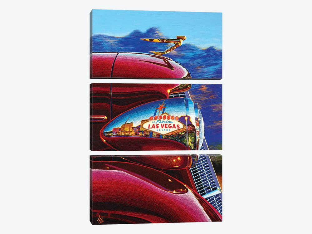 Las Vegas: A World Of Difference by Wil Cormier 3-piece Canvas Art