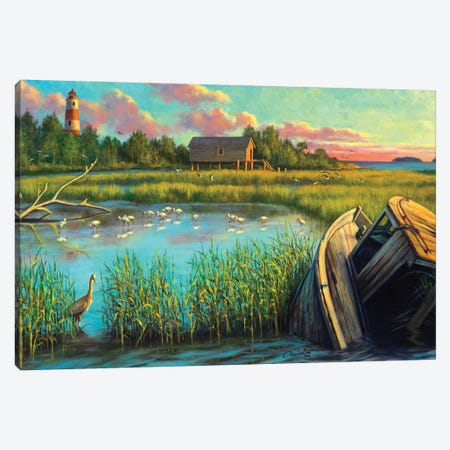 Laughing Gull Creek Canvas Print #WCO17} by Wil Cormier Canvas Artwork