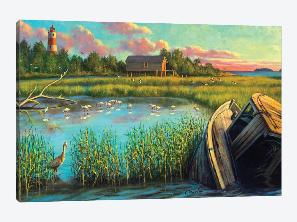 Laughing Gull Creek by Wil Cormier 1-piece Canvas Art