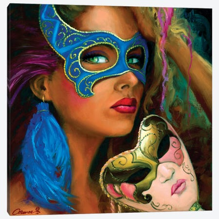 Le Masque Bleu Canvas Print #WCO18} by Wil Cormier Canvas Art Print