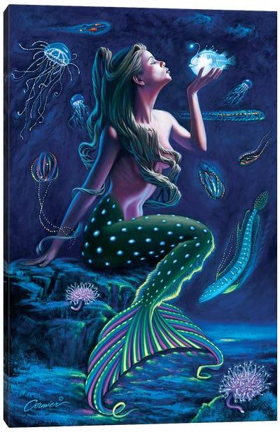 Bioluminescent Mermaid Canvas Art Print