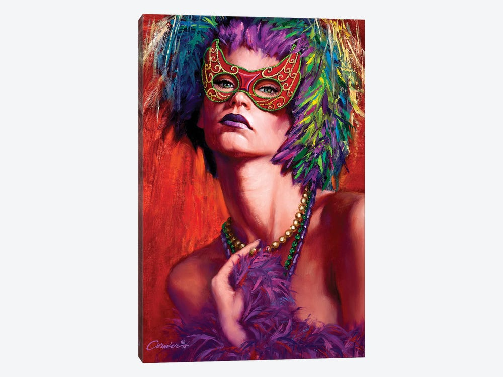 Mardi Gras Cherie by Wil Cormier 1-piece Canvas Art