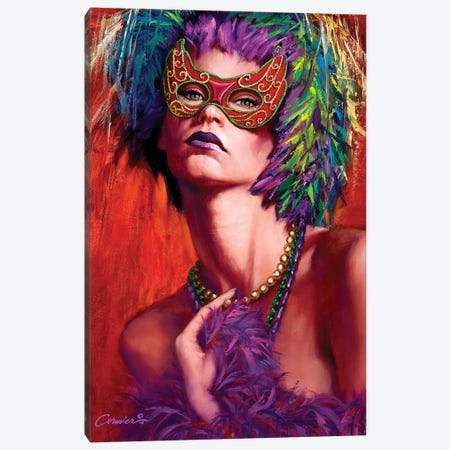 Mardi Gras Cherie 3-Piece Canvas #WCO20} by Wil Cormier Canvas Wall Art