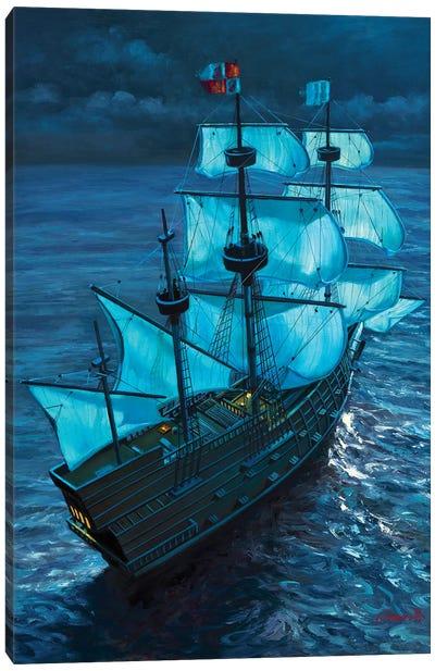 Moonlight Voyage Canvas Art Print