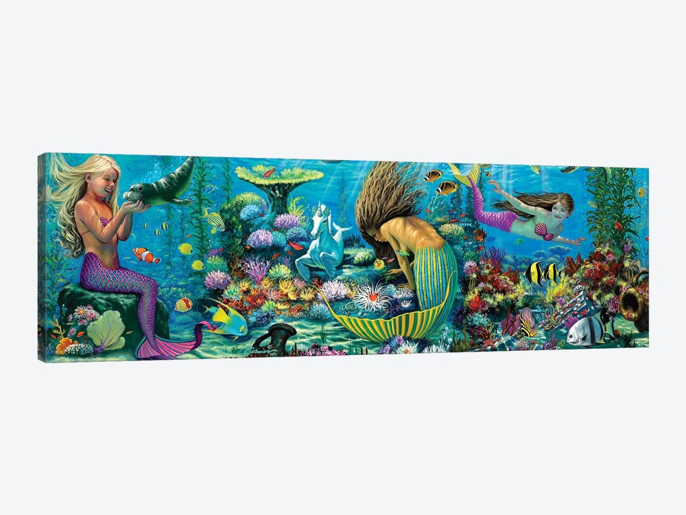 Neptunes Playground II by Wil Cormier 1-piece Canvas Art
