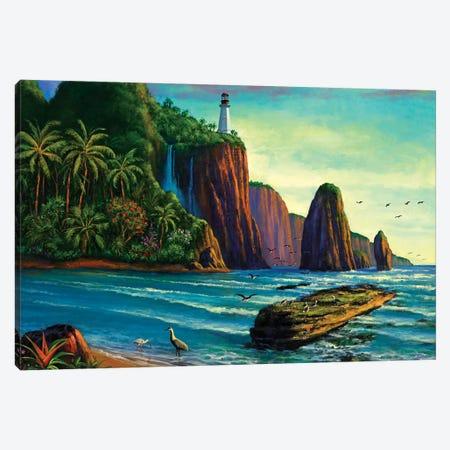 Paradise Bay 3-Piece Canvas #WCO24} by Wil Cormier Art Print