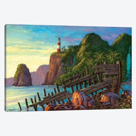 Paradise Cove II Canvas Print #WCO25} by Wil Cormier Art Print