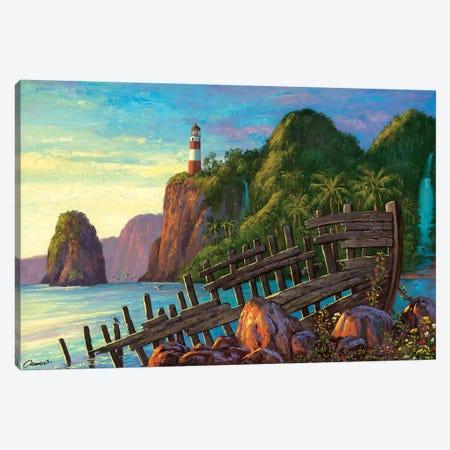 Paradise Cove II 3-Piece Canvas #WCO25} by Wil Cormier Art Print