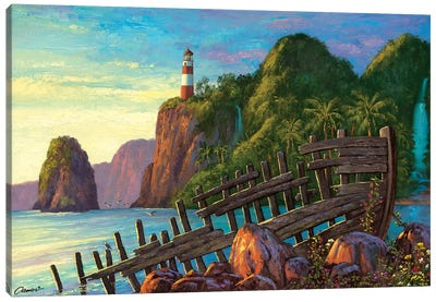 Paradise Cove II Canvas Art Print