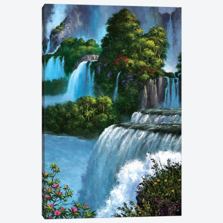 Paradise Falls Canvas Print #WCO26} by Wil Cormier Canvas Art Print