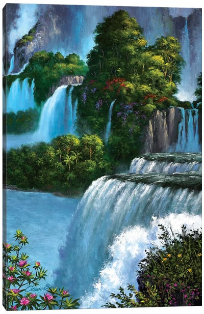 Paradise Falls Canvas Art Print