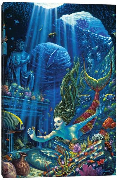 Poseidons Treasures Canvas Art Print