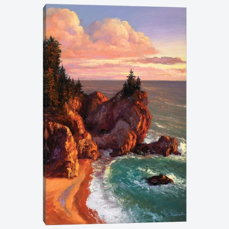 Rocky Shores II Canvas Print #WCO28} by Wil Cormier Canvas Artwork