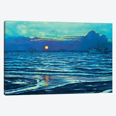 Sapelo Sunrise Canvas Print #WCO29} by Wil Cormier Canvas Wall Art