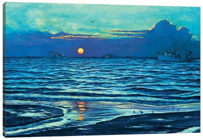 Sapelo Sunrise Canvas Art Print