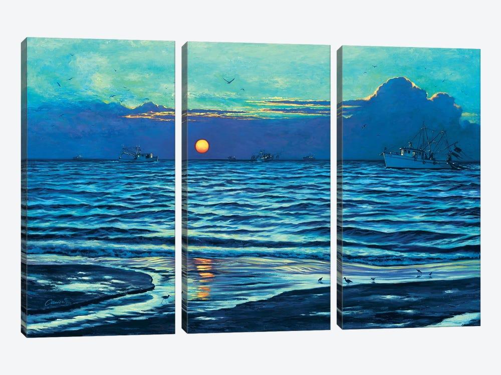 Sapelo Sunrise by Wil Cormier 3-piece Canvas Print