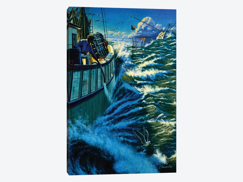 Seven Miles Out by Wil Cormier 1-piece Canvas Artwork