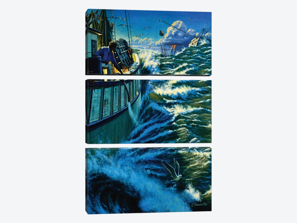 Seven Miles Out by Wil Cormier 3-piece Canvas Wall Art