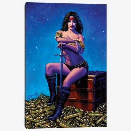 Swashbucklers Bounty Canvas Print #WCO33} by Wil Cormier Art Print