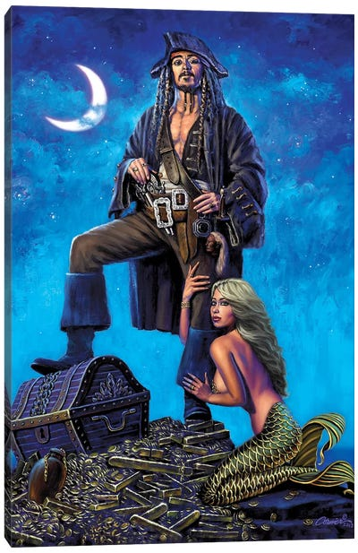 The Golden Mermaid Canvas Art Print