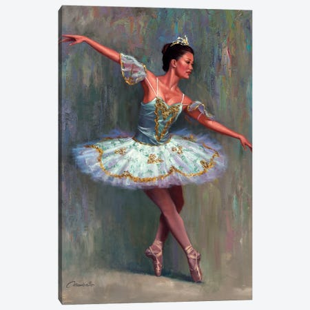 The Ballet Dancer  Canvas Print #WCO35} by Wil Cormier Canvas Wall Art