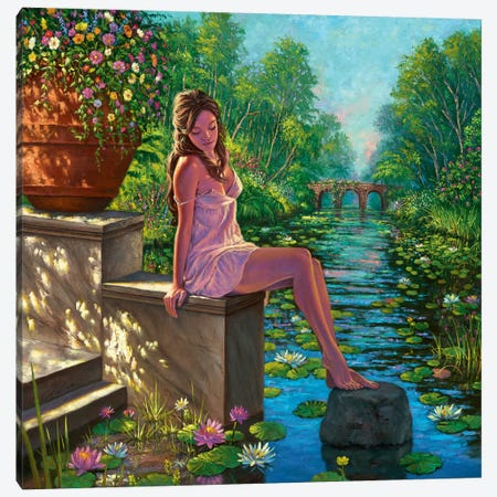 The Secret Garden Canvas Print #WCO36} by Wil Cormier Canvas Artwork