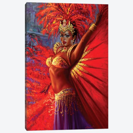 Brazilian Queen Canvas Print #WCO3} by Wil Cormier Art Print