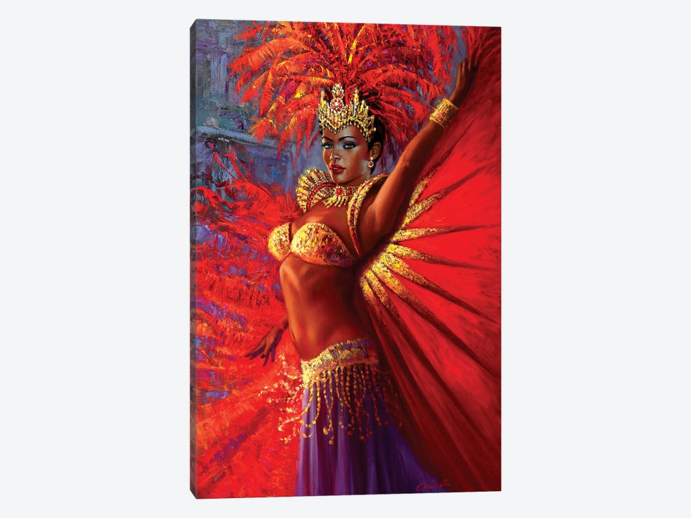 Brazilian Queen by Wil Cormier 1-piece Canvas Print