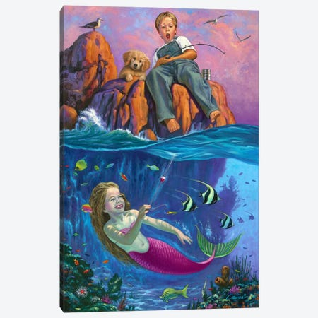 Catch Of The Day Canvas Print #WCO4} by Wil Cormier Canvas Art