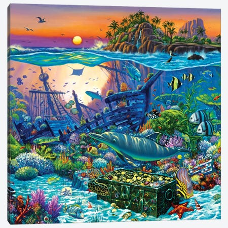 Coral Reef Island II Canvas Print #WCO5} by Wil Cormier Canvas Artwork