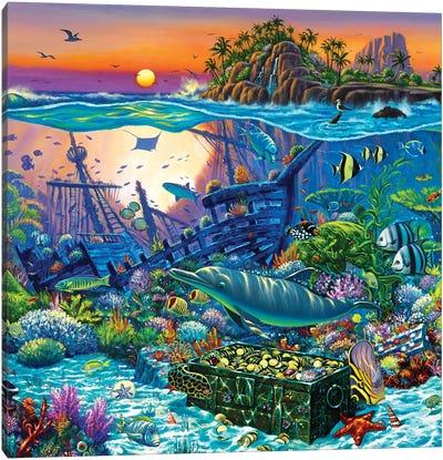Coral Reef Island II Canvas Art Print