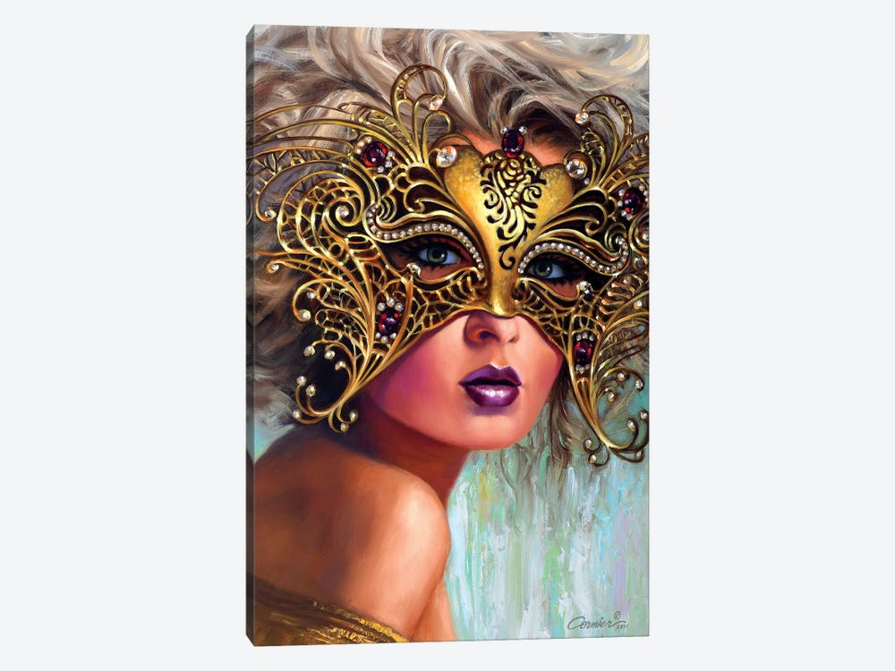 Golden Mask by Wil Cormier 1-piece Art Print