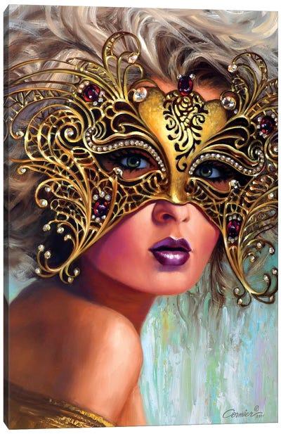 Golden Mask Canvas Art Print