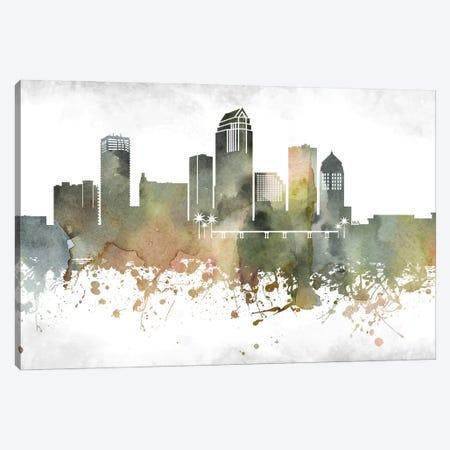 Tampa Skyline Canvas Print #WDA1001} by WallDecorAddict Canvas Art