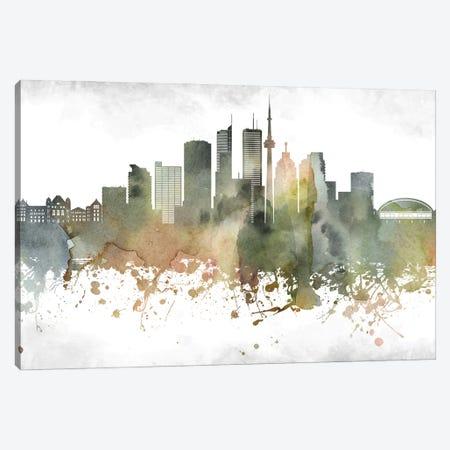 Toronto Skyline Canvas Print #WDA1004} by WallDecorAddict Canvas Art Print