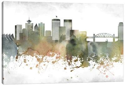 Vancouver Skyline Canvas Art Print