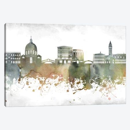 Venice Skyline Canvas Print #WDA1007} by WallDecorAddict Art Print